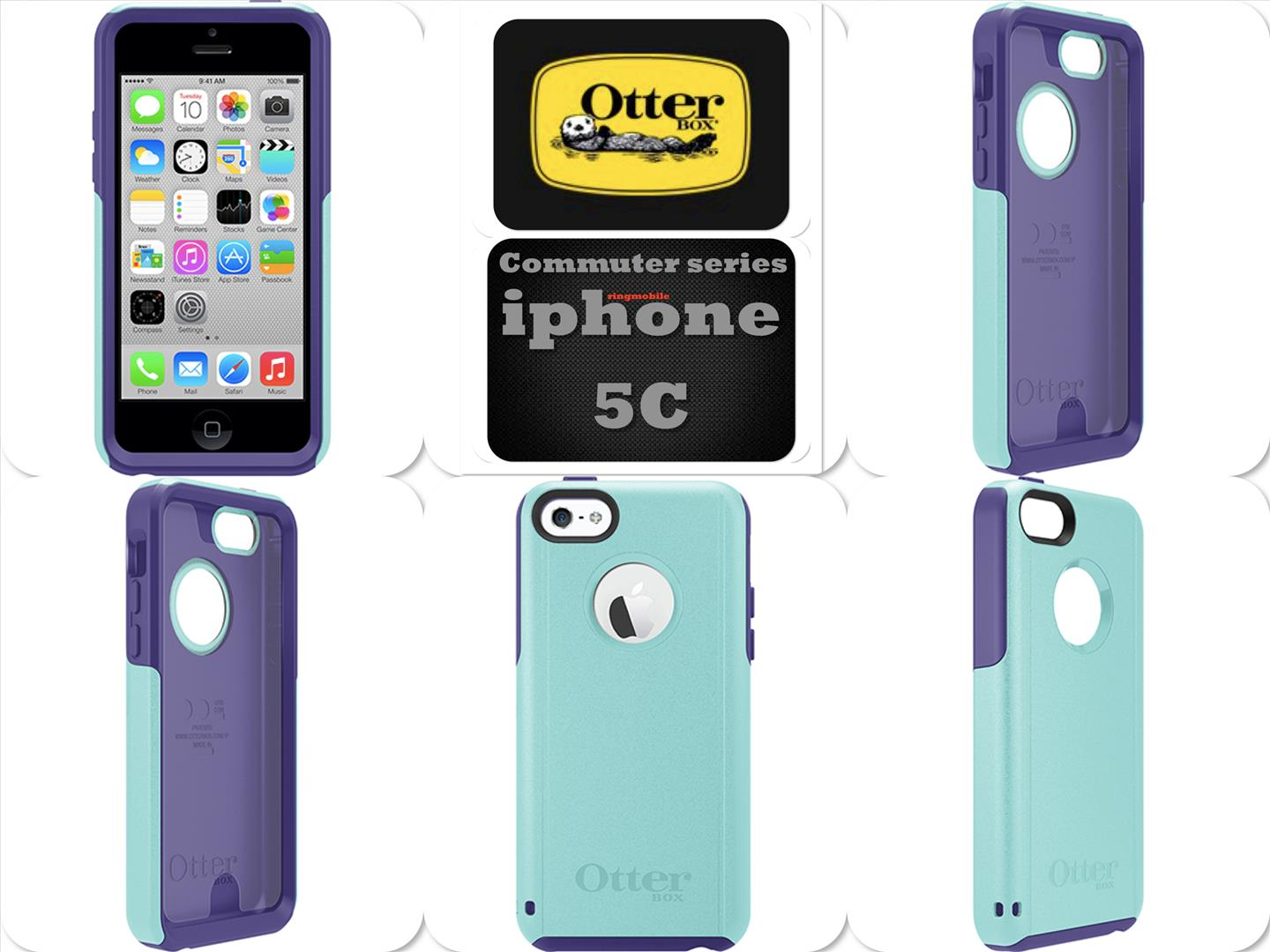 Bdotcom = Apple iPhone 5c OtterBox Commuter Series Case = Lily