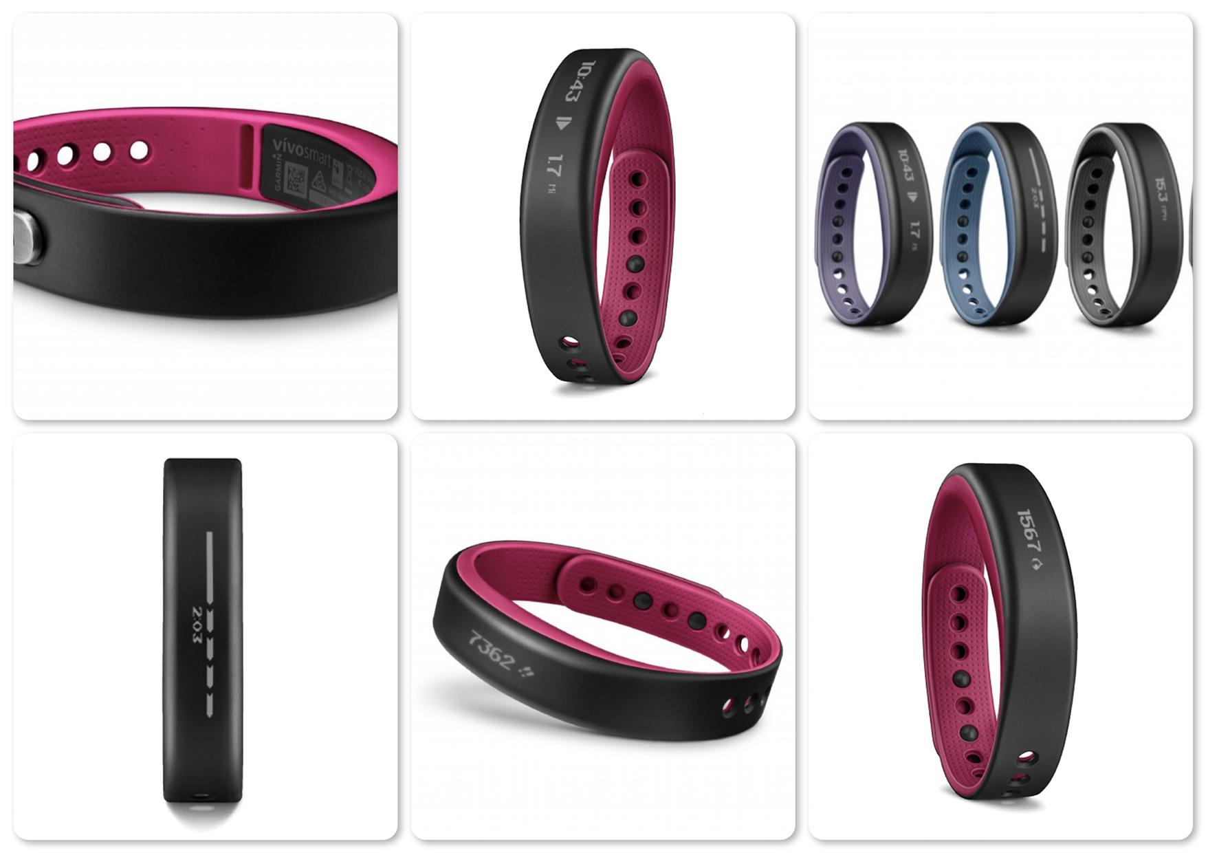 Bdotcom = Garmin VivoSmart Activity Tracker = Original @ Berry (pink)