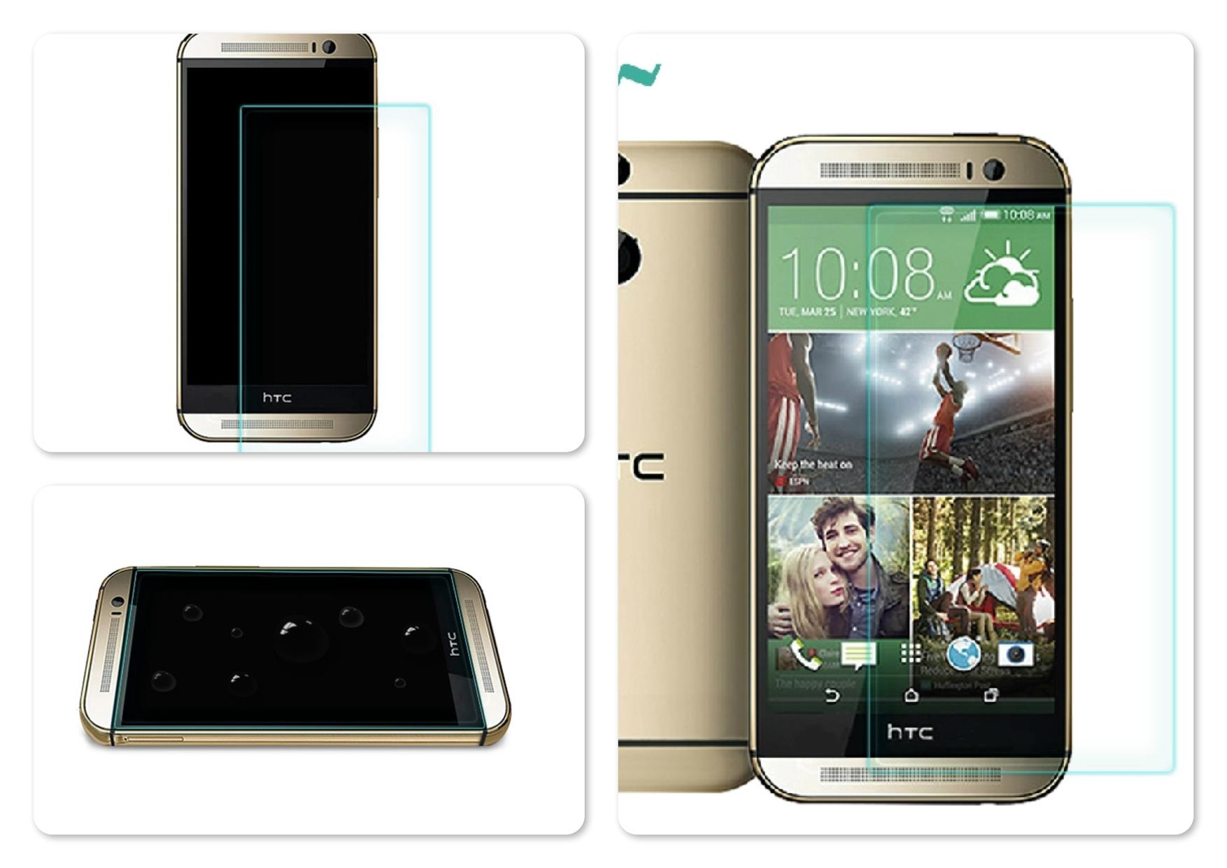 Bdotcom = HTC One M8 Nillkin Anti-Explosion H Tempered Glass Protector
