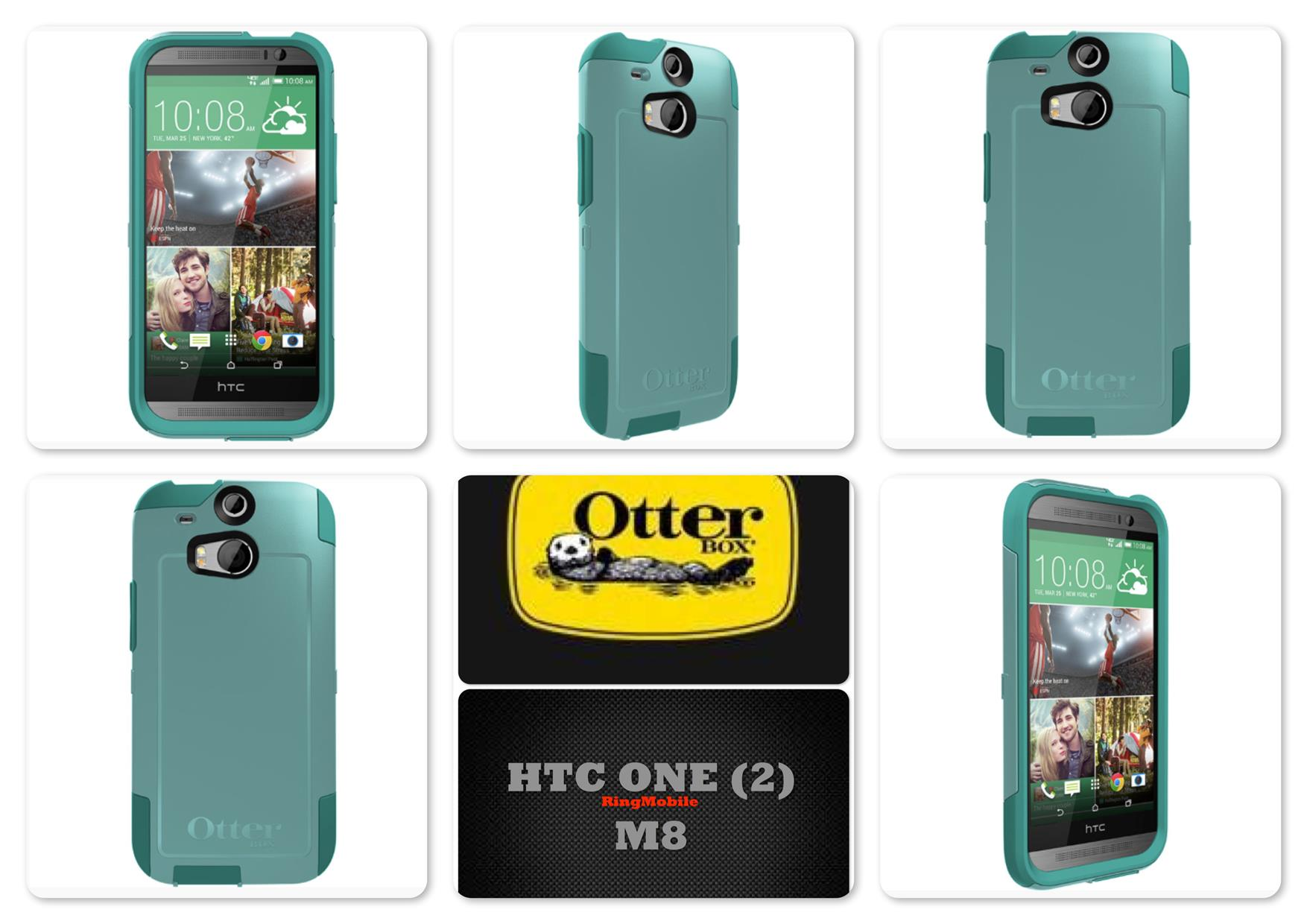 Bdotcom = HTC One M8 Otterbox Commuter Series @ Aqua Sky