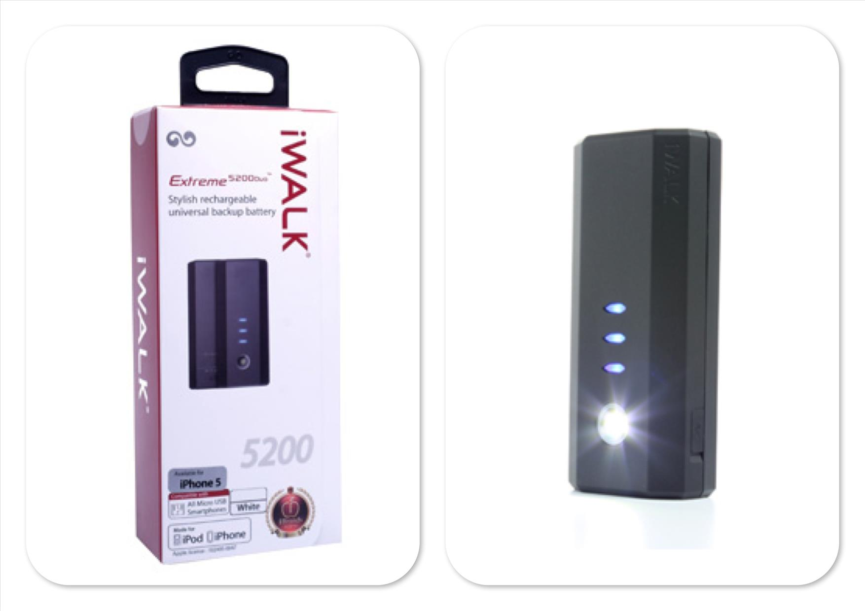 Bdotcom = iWalk Extreme 5200mah Duo Power Bank with 8pin Lightning