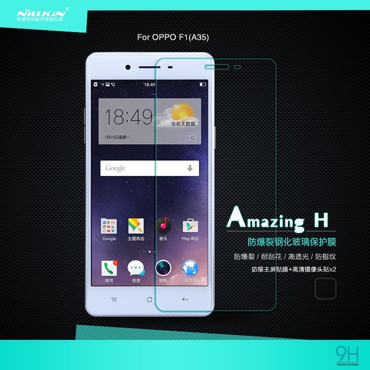 Bdotcom = Oppo F1 (A35) Nillkin Anti Explosion H Tempered Glass
