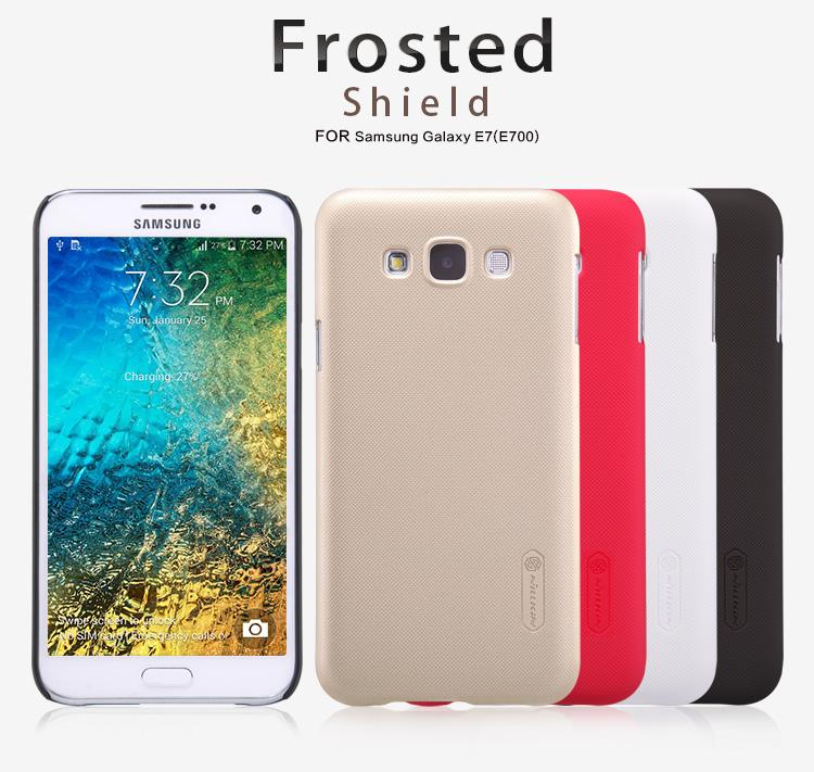Bdotcom = Samsung Galaxy E7 Nillkin Frosted Shield Cover Sand Case