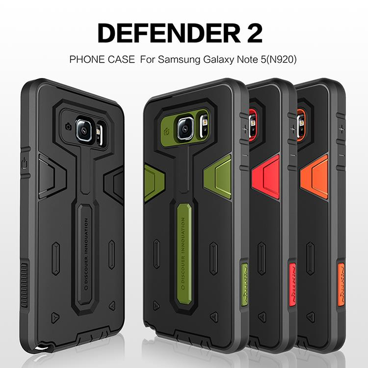 Bdotcom = Samsung Galaxy Note 5 Nillkin Defender Protective Cover Case