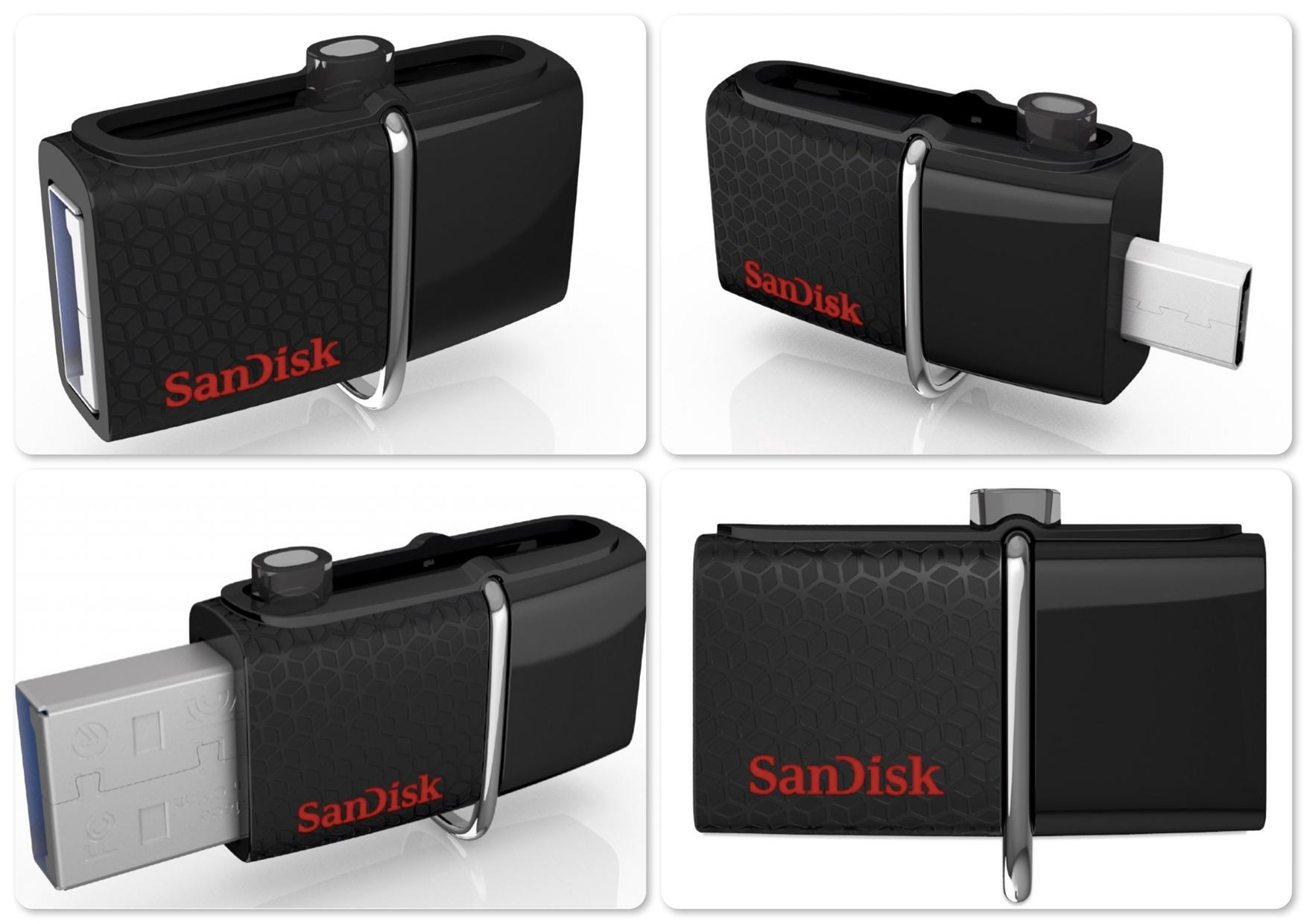 Bdotcom = SanDisk 16GB Ultra Dual USB Mobile Flash Drive 3.0 - Origina