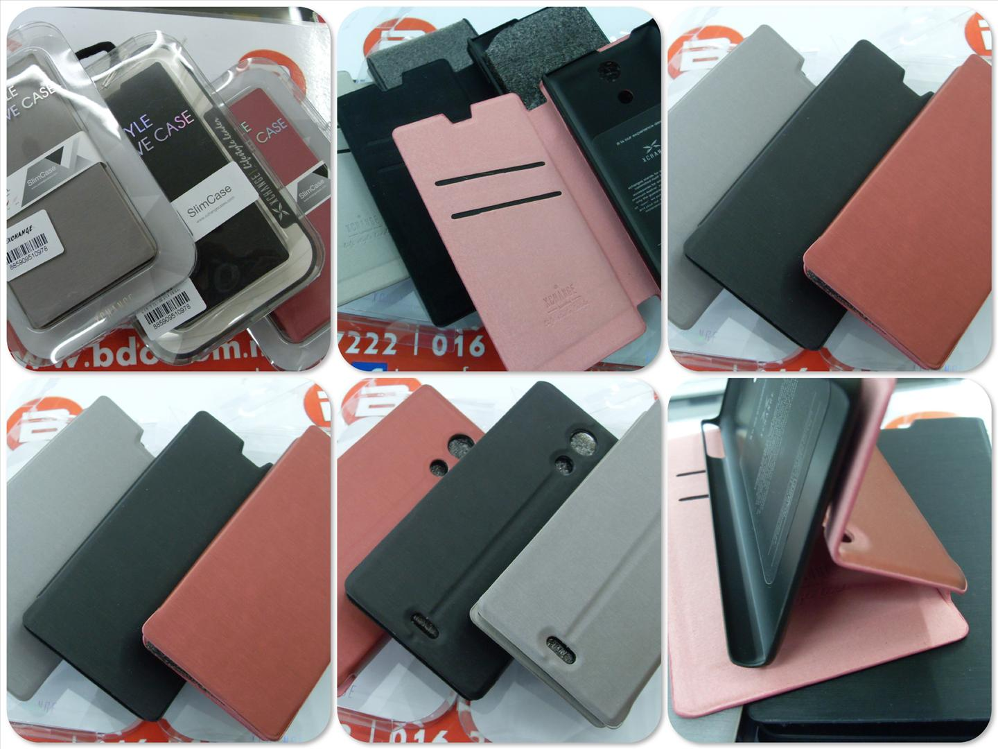 bdotcom = Sony Xperia ZL leather case =