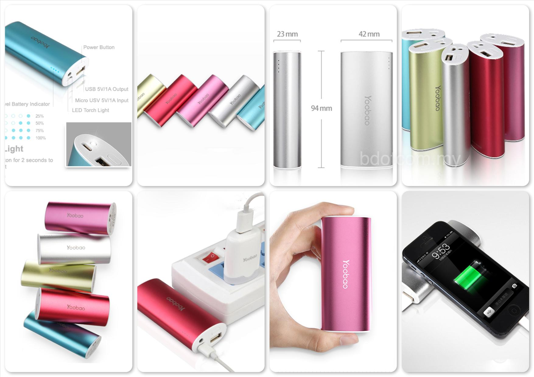 Bdotcom = Yoobao Magic Wand Power Bank 5200 mAh YB-6012