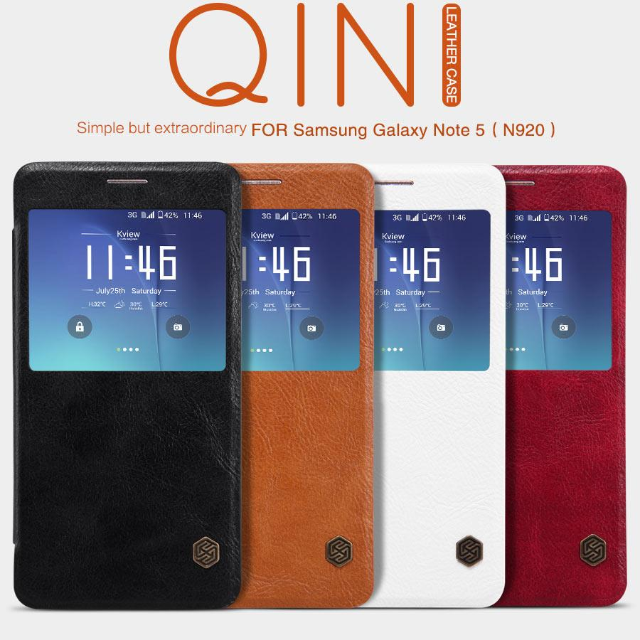 Bdtcom = Samsung Galaxy Note 5 Nillkin Qin Series Leather Flip Case