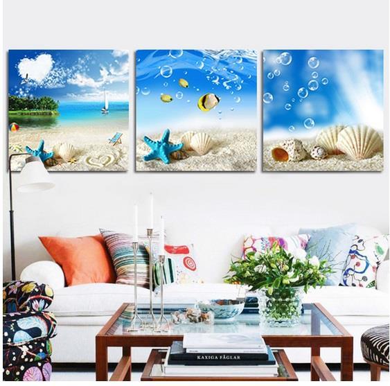 beach wall art home decor painting fr