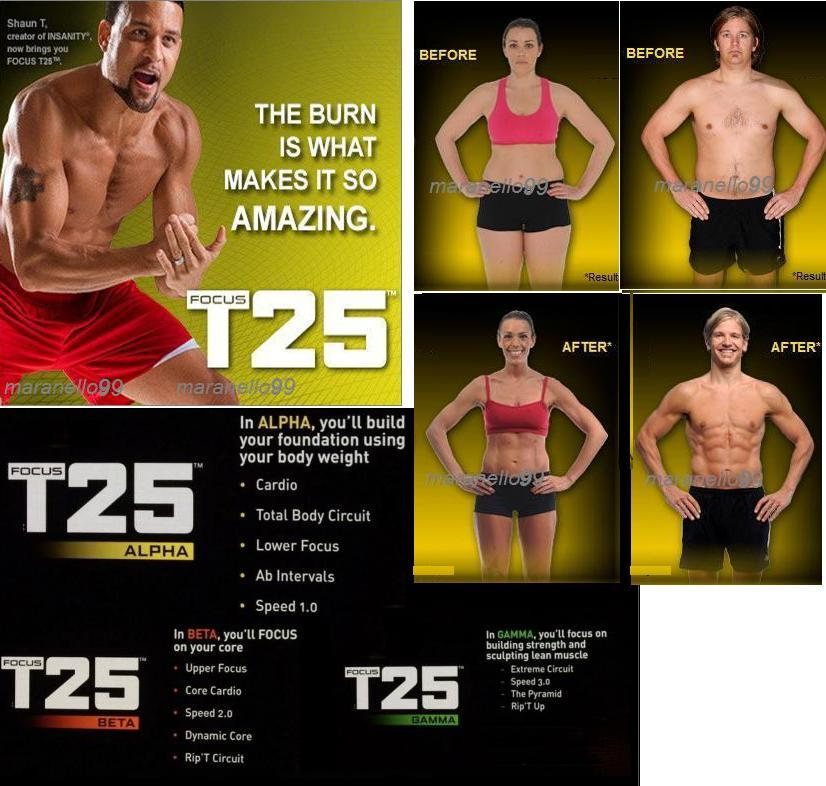Beachbody FOCUS T25 Tutorial Workout by Shaun T ALPHA+BETA+GAMMA