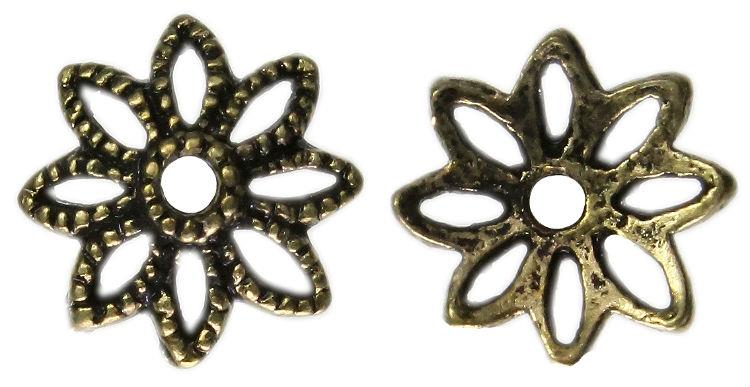 Beads,Cap Bead,10x3mm,Antique Brass Plated,Flower Shape,Diy,L1-00210