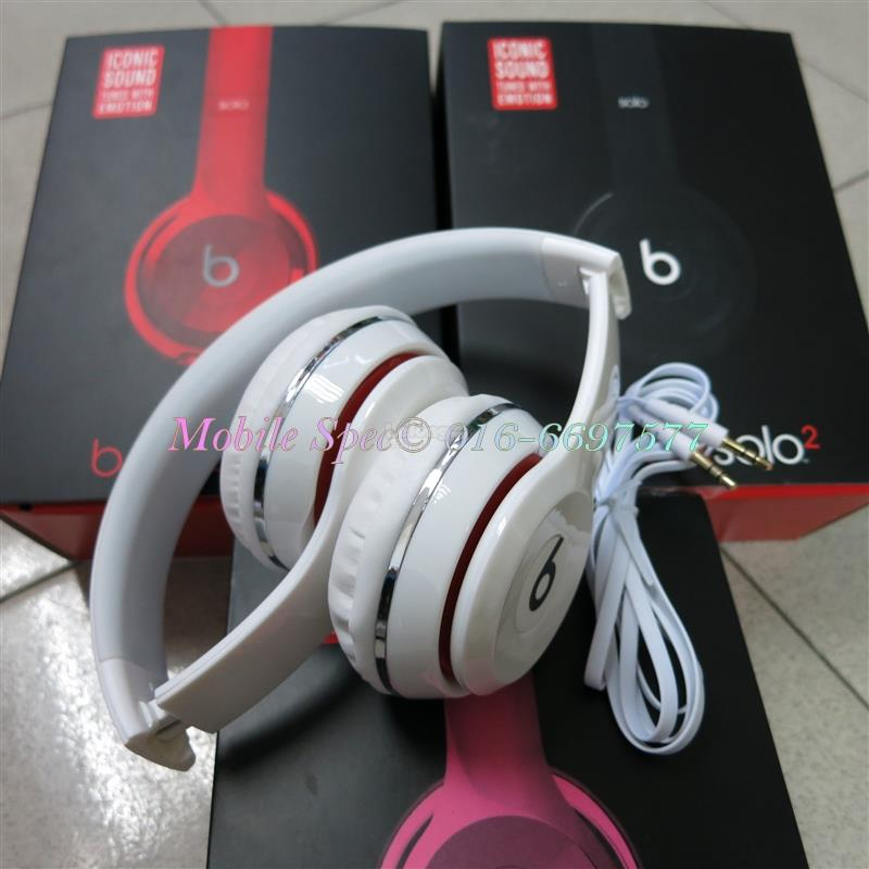 Beats Solo2 Wired On-Ear Headphone Earphone 3.5mm Apple iOS Android