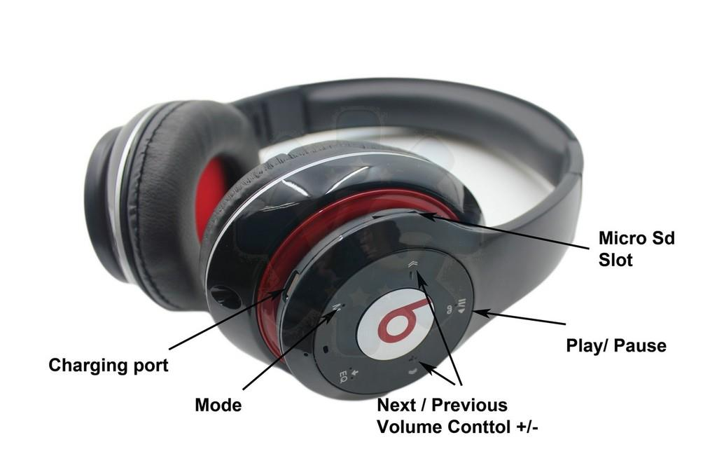 Image result for TM-010 Wireless Bluetooth Headset Headphone With FM Support & Answer Call Button