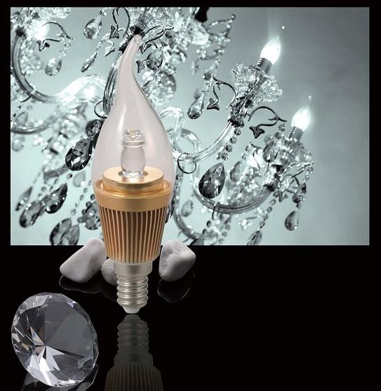 Beautiful LED candle light E14-Pull tail Free shipping