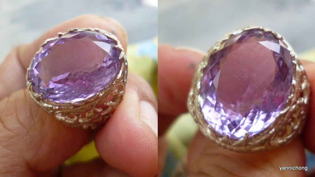 beautiful translucent natural amethyst ring