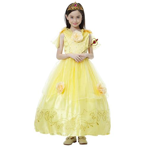 Beauty and the Beast Princess Belle Costume Cosplay Yellow 5-12y. u2039 u203a  sc 1 st  Lelong.my : beauty beast costume  - Germanpascual.Com