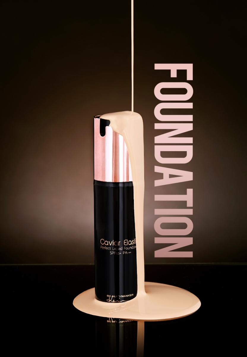 BeautyMaker Caviar Elastic Perfect Liquid Foundation- Ivory