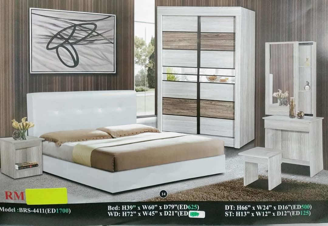 BEDROOM SET INSTALLMENT MONTHLY RM130 MODEL-4411
