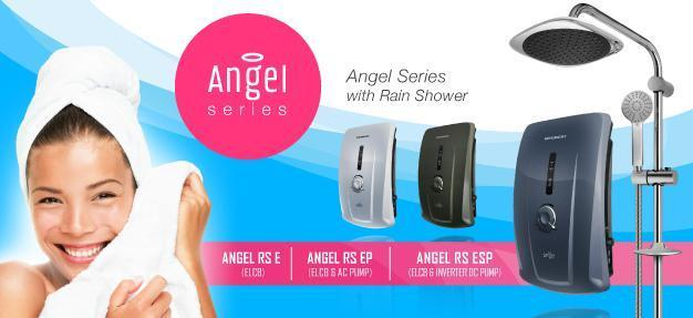 BeeBest Angel Rain Shower Water Heater With DC Silent Pump ANGEL RS EP