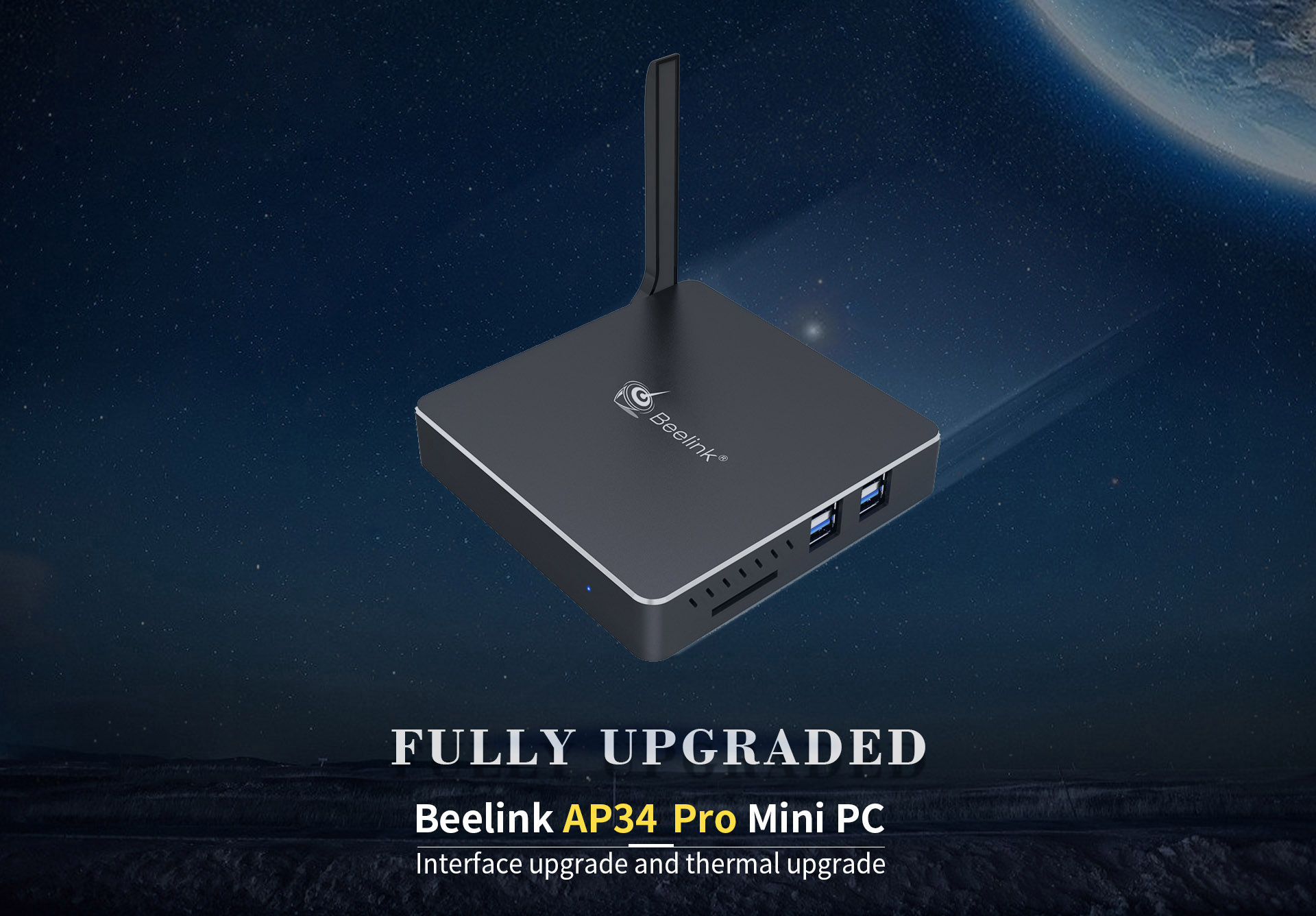 Beelink AP34 Pro Mini PC Supports Windows 10 Intel Apollo Lake N3450 6..