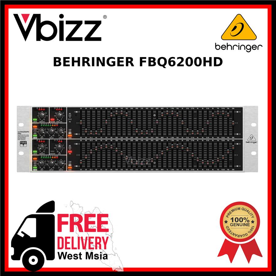 Behringer FBQ6200HD *FREE DELIVERY* 31-band Stereo Graphic Equalizer