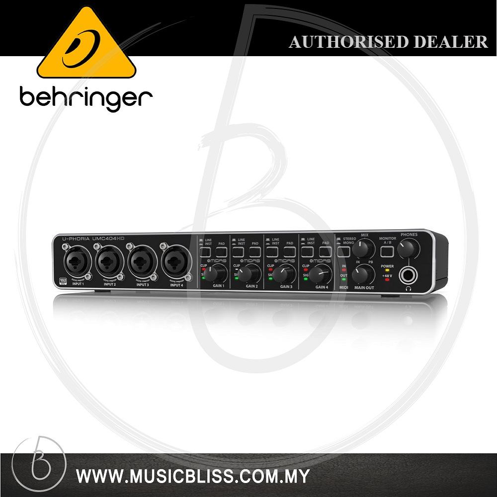 Behringer U-Phoria UMC-404HD USB 2 0 Interface (UMC404HD)*Crazy Sales*