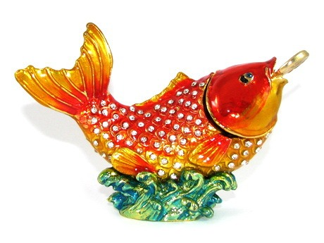Bejeweled Wish-Fulfilling Carp for Career Luck - Feng Shui Store