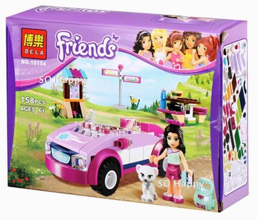 BELA 10154 Friends Series Emma's Sports Car LEGO Compatible Bricks