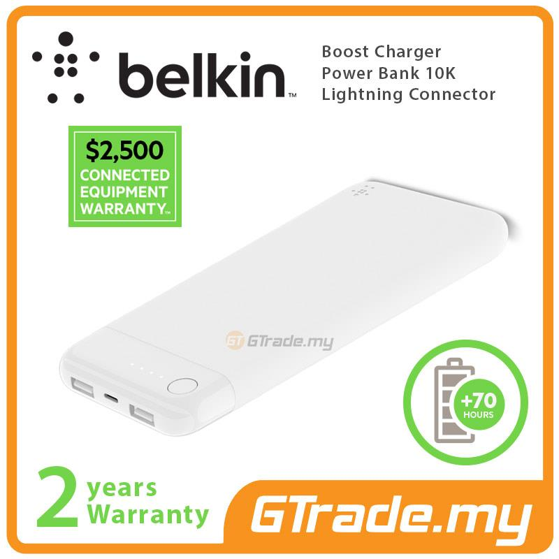 Belkin Boost Charger Power Bank 10K White Lightning Connector