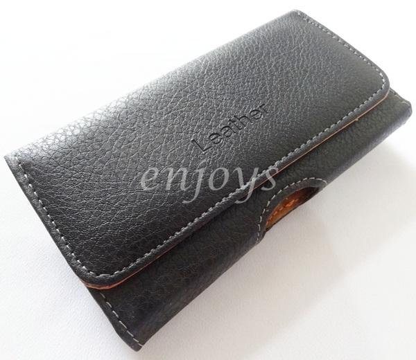 Belt Leather Pouch Samsung I9300 Galaxy S3 I9500 S4 I9100 (5.0) *XPD