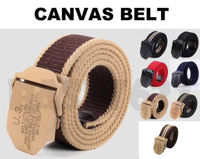 US Belt Men Man Utility Unisex Adjustable Slider Canvas Belt 1845.1