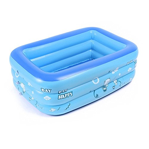 BELUPAI Baby Inflatable Folding Bath Pool, Extra Thick Baby Blue Swimming Pool
