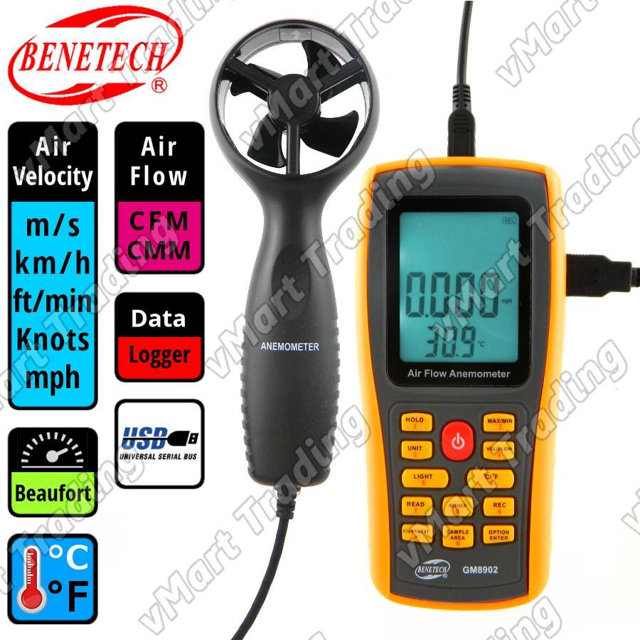Digital Anemometer Intl Daftar Harga Terlengkap Indonesia Lutron Lm 8010 Benetech Gm8902 With Usb Output