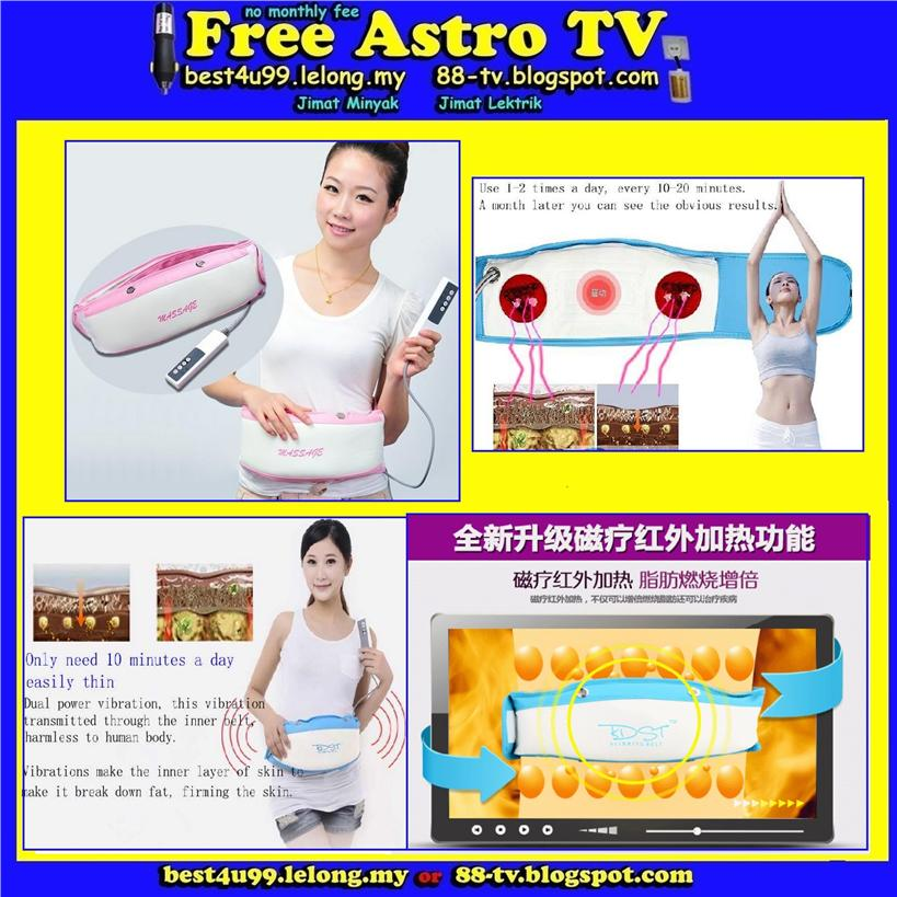 Benice Fat Removed Slimming Belt Vibrating Massage Lose Weight Kurus f