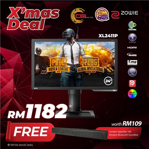 BenQ 24' XL2411P ZOWIE 144Hz e-Sports Gaming LED Monitor