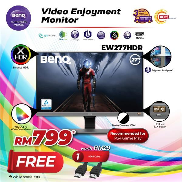 BenQ 27' EW277HDR Eye-care Stylish HDR LED Monitor