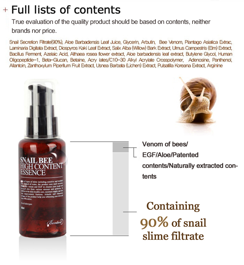Benton Snail Bee High Content Essence 60ml [exp 2020 June]