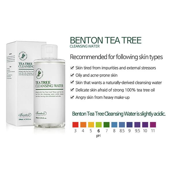 Image result for benton tea tree cleansing water
