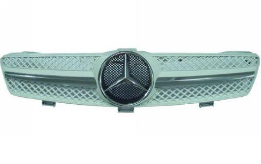 Benz CLS W219 SL Sport Front Grille [White/Chrome/Black Chrome/Silver/