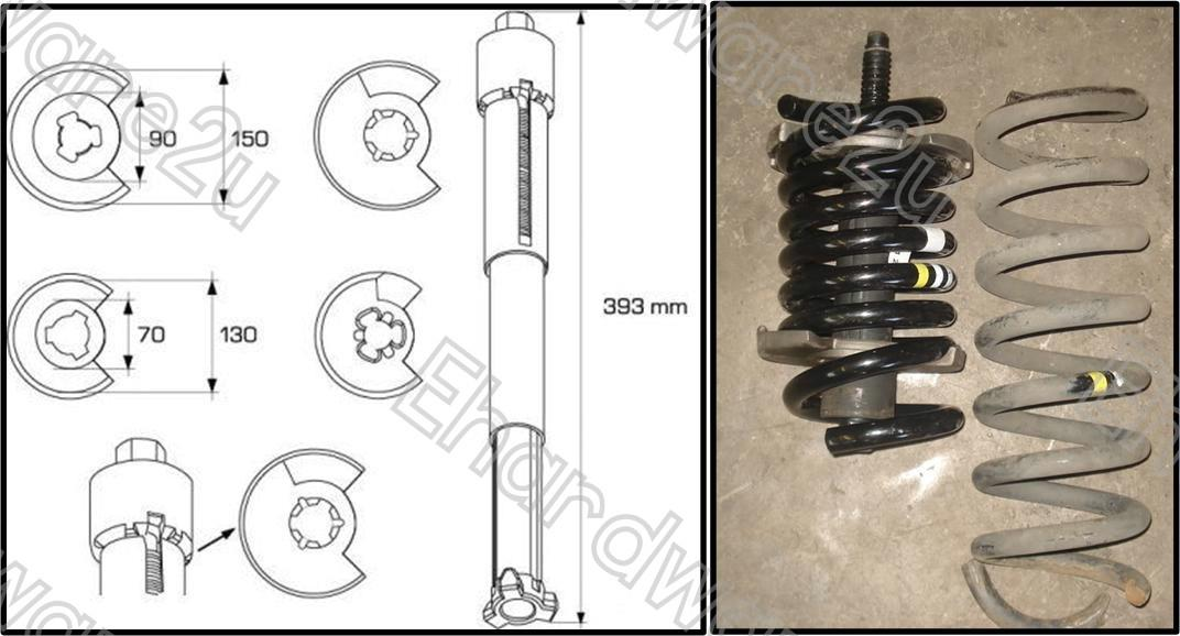 BENZ COIL SPRING COMPRESSOR KIT WITHOUT DISMANTLING AXLE (1801)