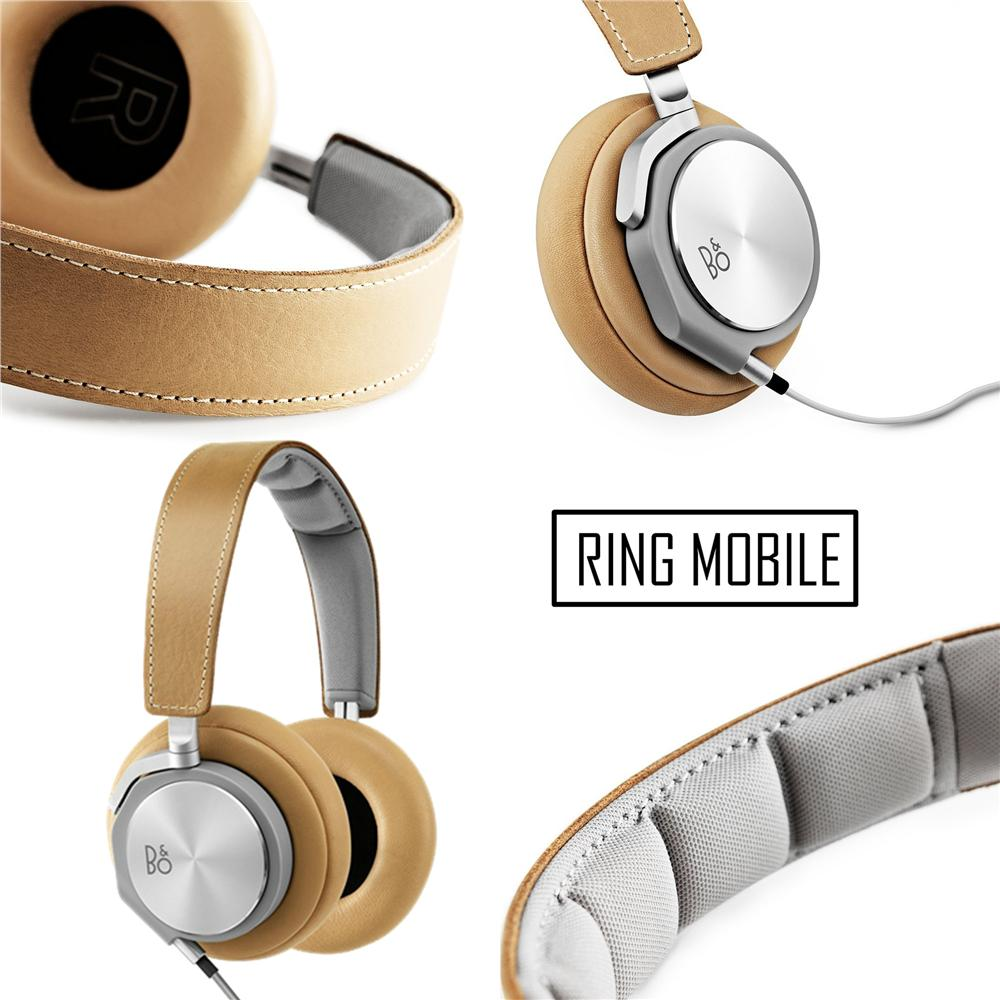 BeoPlay H6 Premium OverEar Headphone with Microphone - Natural Leather
