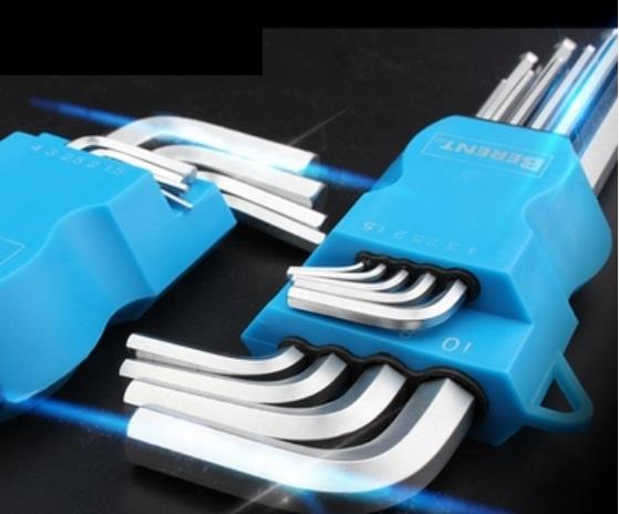 Berent BT0602 HRC 9pcs Hex Allen Key Set