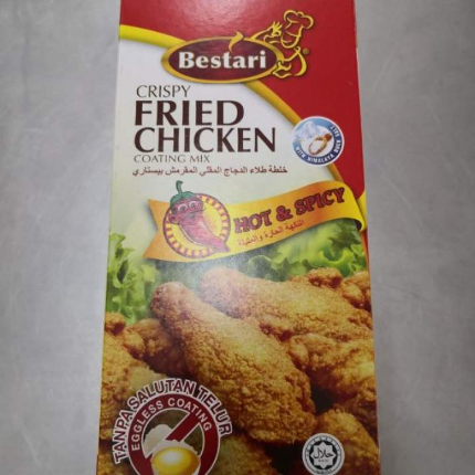 Bestari Hot & Spicy Crispy Fried Chicken Coating Mix 150g ( X2 ITEM )