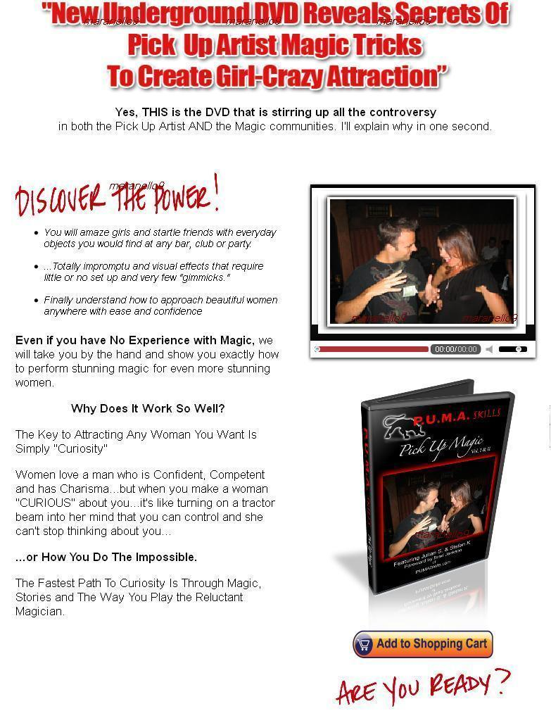 Bestselling: PUMA Skills Mastery Course: Art of Seduction + Magic DVD