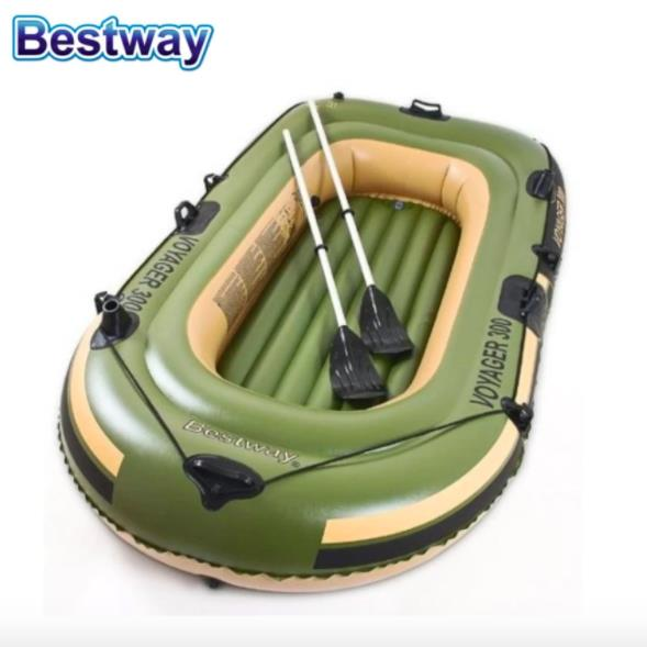BESTWAY 65051 Inflatable Boat 2 Person Raft Kayak Fishing Boat Sport