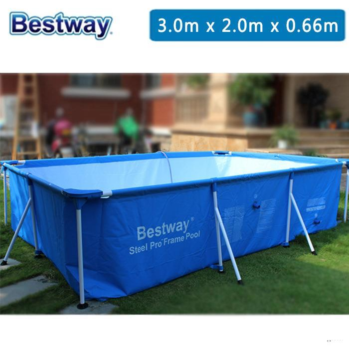 Bestway above ground pool swimming end 10 17 2018 8 15 pm - Bestway steel frame swimming pool ...