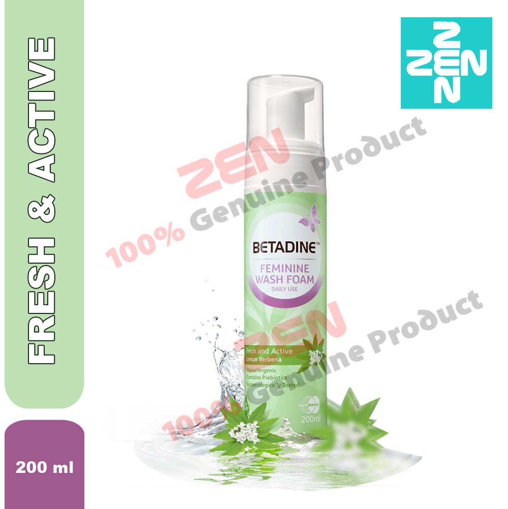 Betadine Feminine Wash Foam Fresh End 12 13 2020 1200 Am 5 Ml Active 200ml
