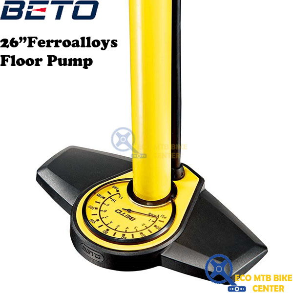"BETO 26"" Ferroalloys Floor Pump Presta and Schrader (CMP-135SG5)"