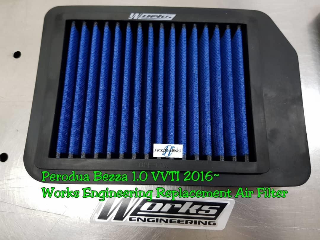 BEZZA 1.0 VVTI 16'~ WORKS ENGINEERING PERFORMANCE DROP IN FILTER
