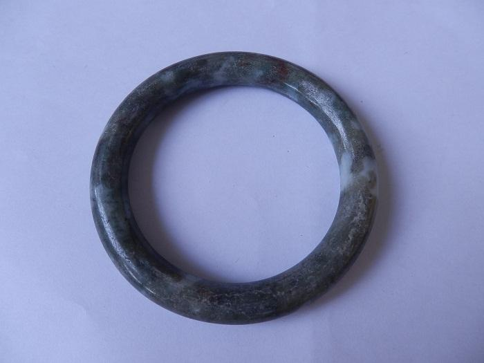 BGBJ8 Natural Burma Jade Bangle 62m